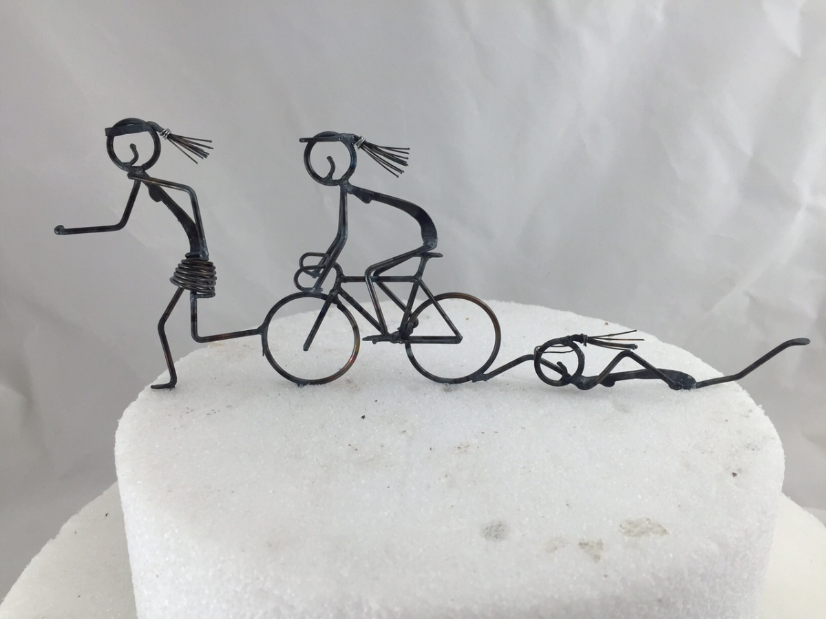 Triathlete Cake Topper