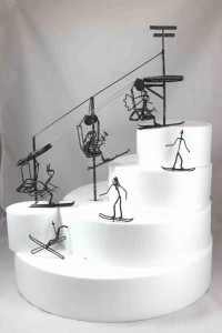 SkiLiftWeddingCakeTopper