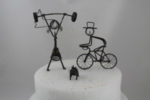 Weight Lifter Cake Topper