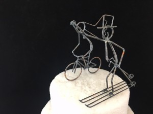 Bike and Ski Cake Topper