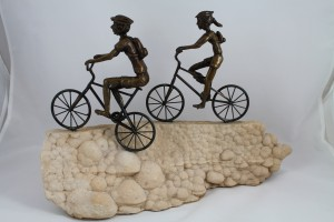 Bronze Bike Sculpture