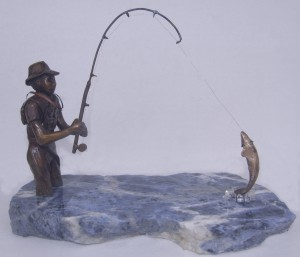 Fisherman Sculpture